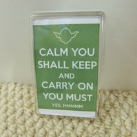 Yoda Keep Calm Fridge Magnet