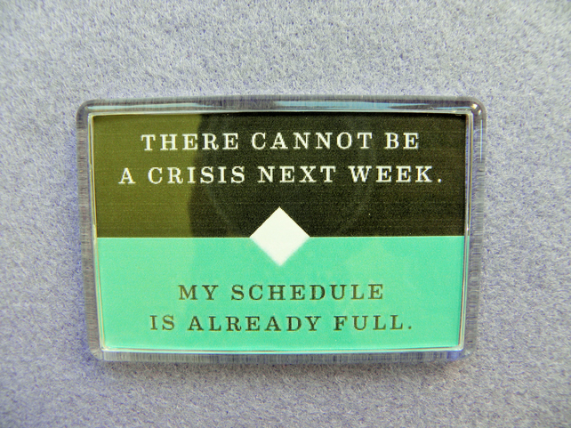 No Time For a Crisis Fridge Magnet