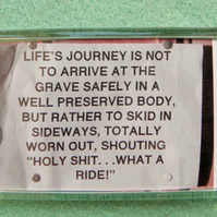 Lifes Journey Fridge Magnet
