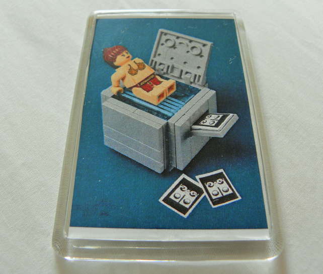 Lego Office Party Fridge Magnet