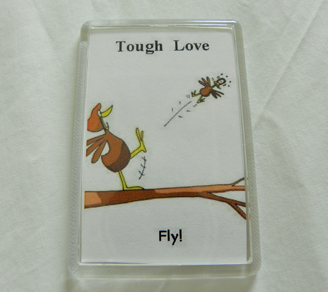 Tough Love Fridge Magnet