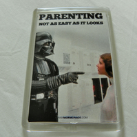 Darth Vader Parenting Fridge Magnet