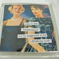 Drinking In Moderation Fridge Magnet