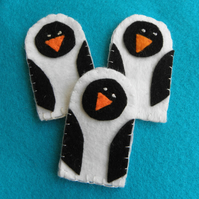 Penguin finger puppets