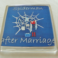 Spiderman After Marriage Fridge Magnet