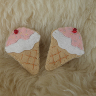 Pair of Icecream Hair Clips