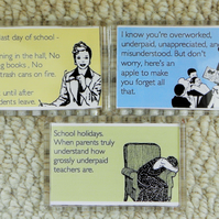 Set of Teacher Thank You Gift Magnets