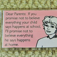 Dear Parents - Message From The Teacher Magnet