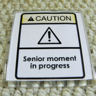Senior Moment In Progress Magnet