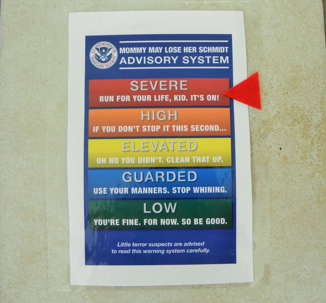 Mummy Advisory Wall Chart - Know Where You Stand!!!!