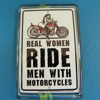 Real Women Ride Men With Motorcycles Magnet
