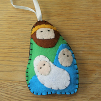 Jesus, Mary & Joseph Felt Decoration