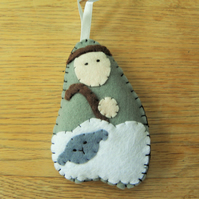 Nativity Shepherd Decoration