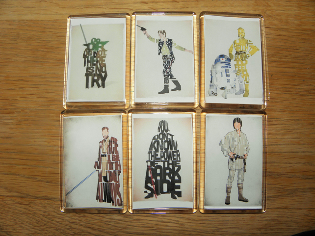 Set of Star Wars Character Magnets