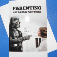 Darth Vader Parenting Fathers Day Card