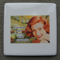 The Path Of Unsuitable Men Vintage Coaster