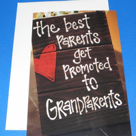 The Best Parents Get Promoted Card