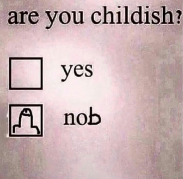 Are You Childish (2) Fridge Magnet