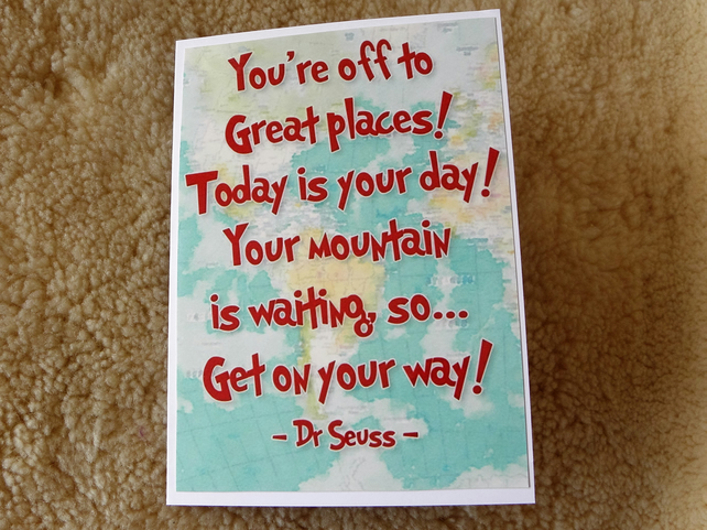 Off Travelling - Dr Seuss The Places You'll Go Card