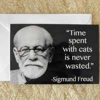 Time Spent With Cats Is Never Wasted Card