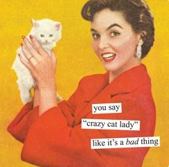 Crazy Cat Lady Greeting Card