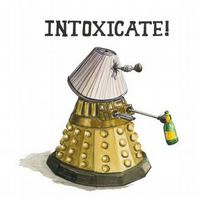 Drunken Dalek Greeting Card