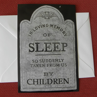 In Loving Memory Of Sleep Blank Greeting Card