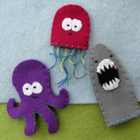 Under The Sea Set of finger puppets