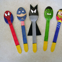 Superhero Story Spoon Set