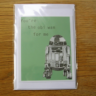 You're the Obi Wan For Me Blank Greeting Card