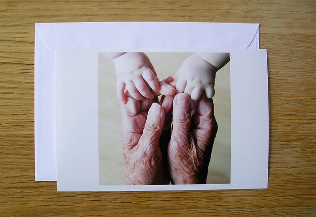 Grandparents Hearts and Hands Card