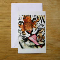 Tiger Mums Blank Greeting Card