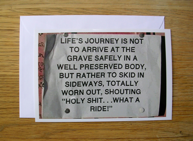"""Life's Journey"" Philosophical Greeting Card!"