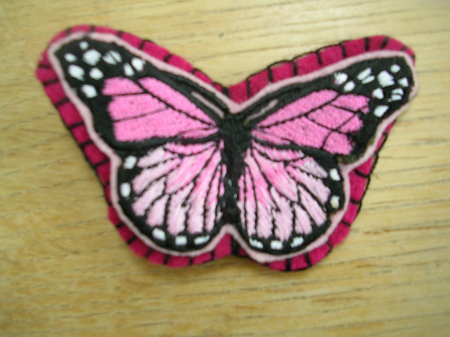 Large Felt Butterfly Hair Clip - Pink