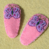 Pair of Butterfly Hair Clips