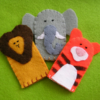 Set of 3 Circus finger puppets