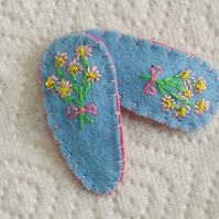 Pair of Blue Posie Hair Clips