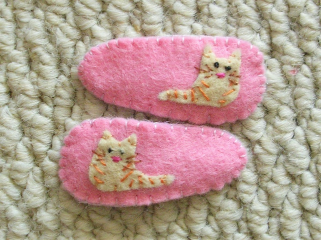 Pair of Kitty cat Hair Clips