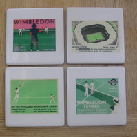 Set of 4 Vintage Wimbledon Coasters