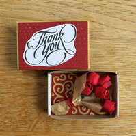 Thank You Bouquet In A Matchbox
