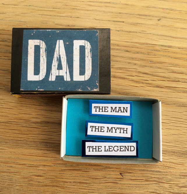 Dad - The Legend! Message In A Matchbox