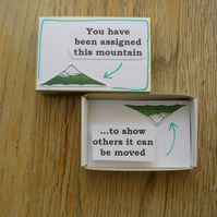 Moving Mountains Inspirational Matchbox Message