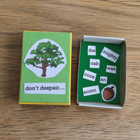 Aspiration and Ambition Matchbox Message