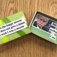 Donald Trump's A Moron! Message In a Matchbox