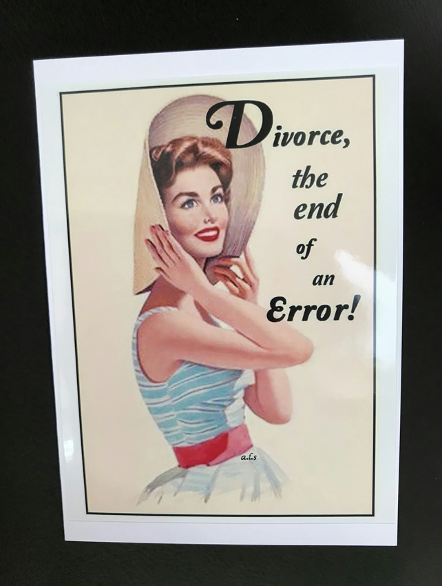 Divorce: The end of an error blank greeting card
