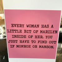 Are you a Marilyn Monroe or Marilyn Manson? Blank Greeting Card
