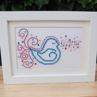 For Purchse by D.B. Only - Textile Cross Stitch Bird Artwork