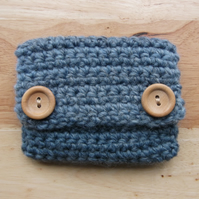Rustic Tweedy Crochet Coin Purse - For purchase by EC Only