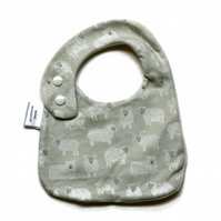 Cotton baby dribble bib  (wooly)