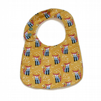Cotton baby dribble bib  (vixen)